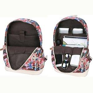 Image 4 - 2020 mulheres coruja animal impressão mochila lona bookbagpack mochilas escolares sacos para meninas adolescentes mochila