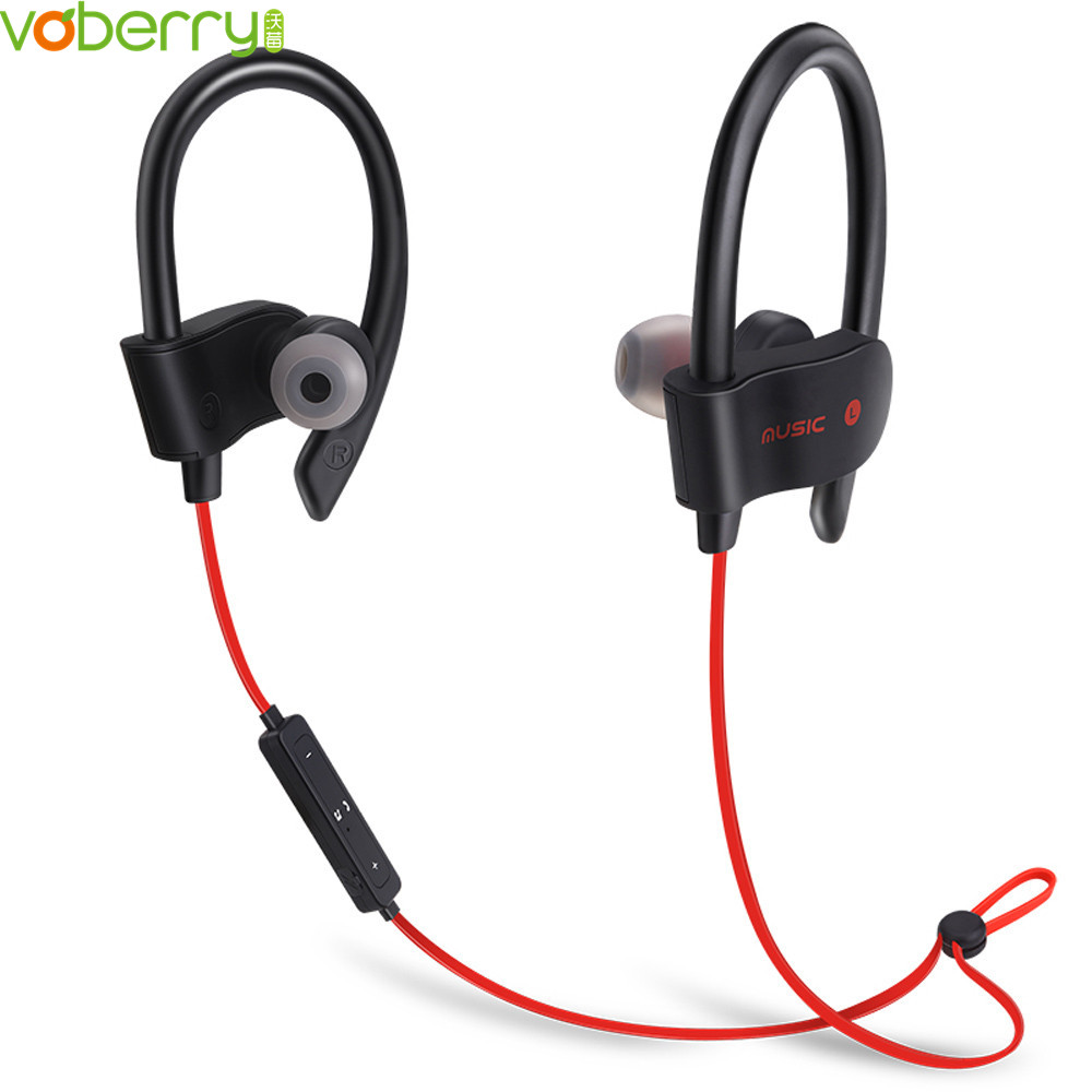 VOBERRY High Quality Sweatproof Wireless Stereo Bluetooth Earphones Headset In-Ear Sport Music Headphones With Mic For iPhone a18 true wireless stereo bluetooth 4 2 headphones cordless earphones sweatproof in ear headset with mic