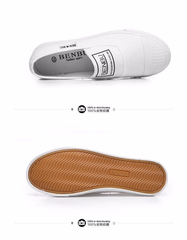 KUYUPP Brand New Woman White Shoes 2016 Summer Casual Flat Slip On Canvas Shoes Round Toe Women\'s Flats Big Size 35-40 PX107 (17)