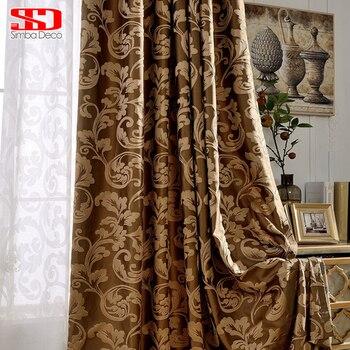 luxe gordijnen voor woonkamer grijs gordijnen slaapkamer jacquard jaloezien stof europese venster behandelingen hoge shading 80 panelen