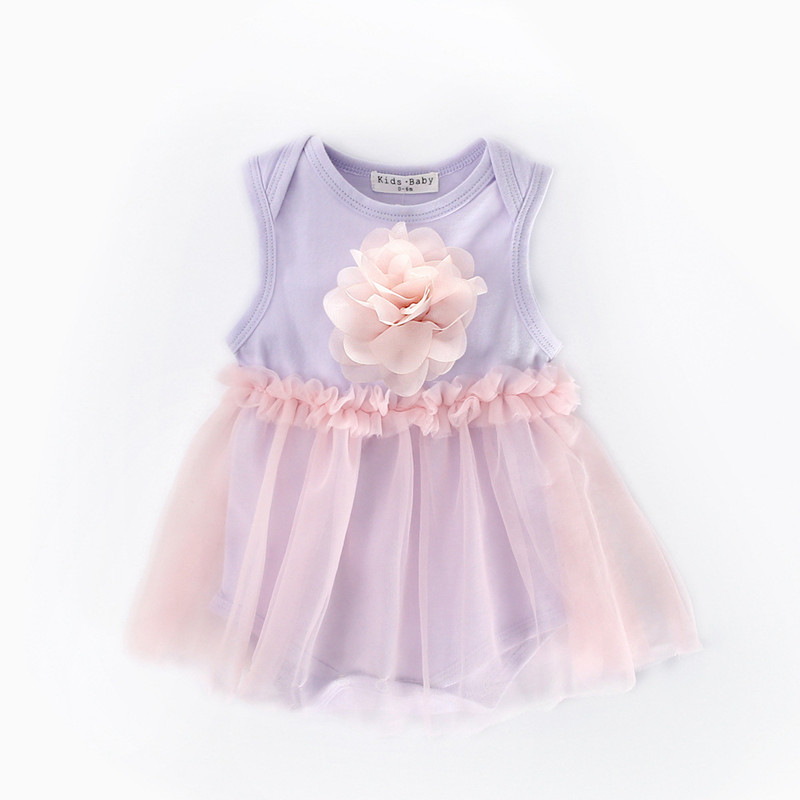 Baby Girl Romper Floral Cotton Infant Baby Girls Floral Ruffle Romper Dress Kids Clothes Summer 2017 Baby Princess Flower Dress