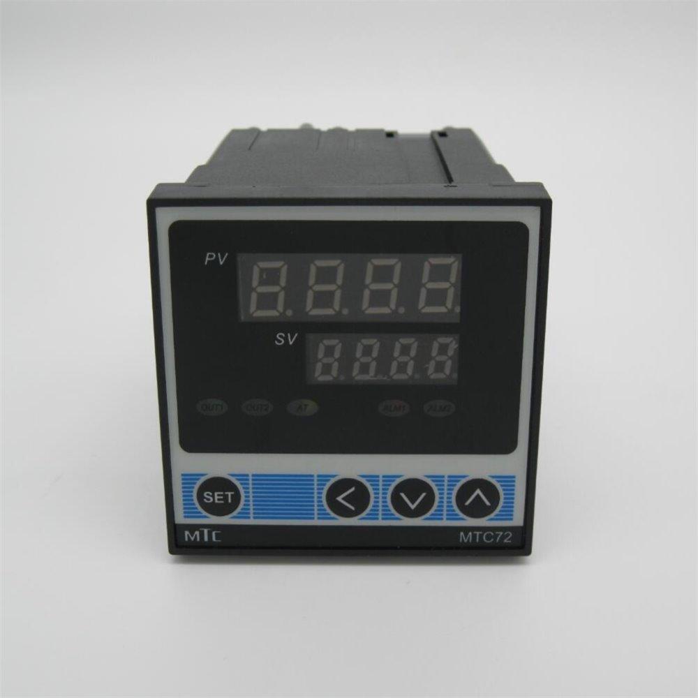 Alta Qualidade MTC72 RKC PID Controlador de temperatura Digital de doble con termopar K, relé de saída tamanho: 72*72*110mm