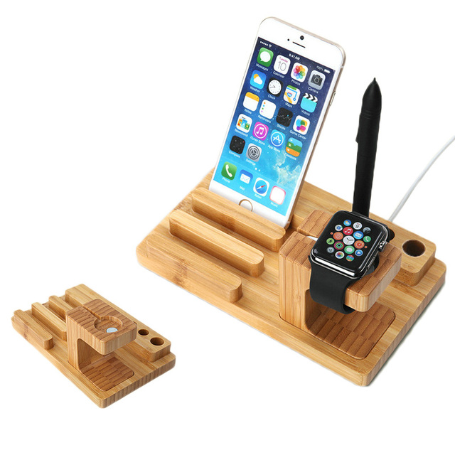 Latest 2015New Watch bracket for iphone6 High quality watch wooden cradle charging port work fine wood ornaments For Your Home - Elegant finewood Beautiful
