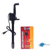 Погружной насос для аквариума многофункциональный водяной насос для аквариума бомба кислородный аквариум бесшумный фильтр насос R3 380/R3-380