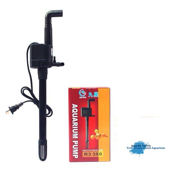 Pompe Submersible pour aquarium multifonction pompe à eau fish tank bombe d'oxygène fish tank filtre muet pompe à R3 380/R3-380