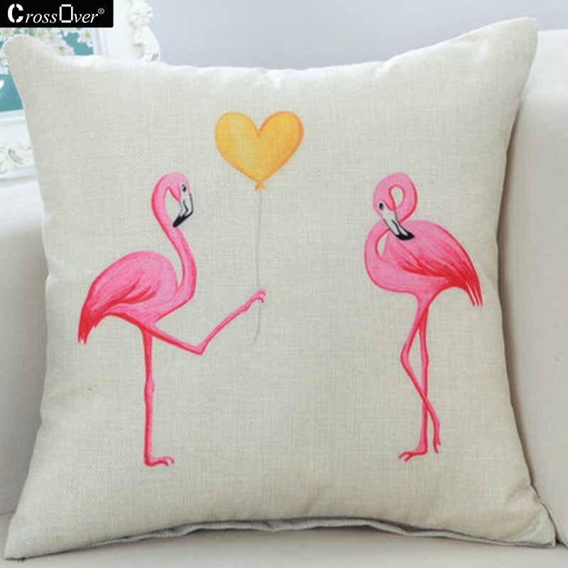 ᑐHot sale Flamingo patrón Cojines cubierta decorativ almohada para ...