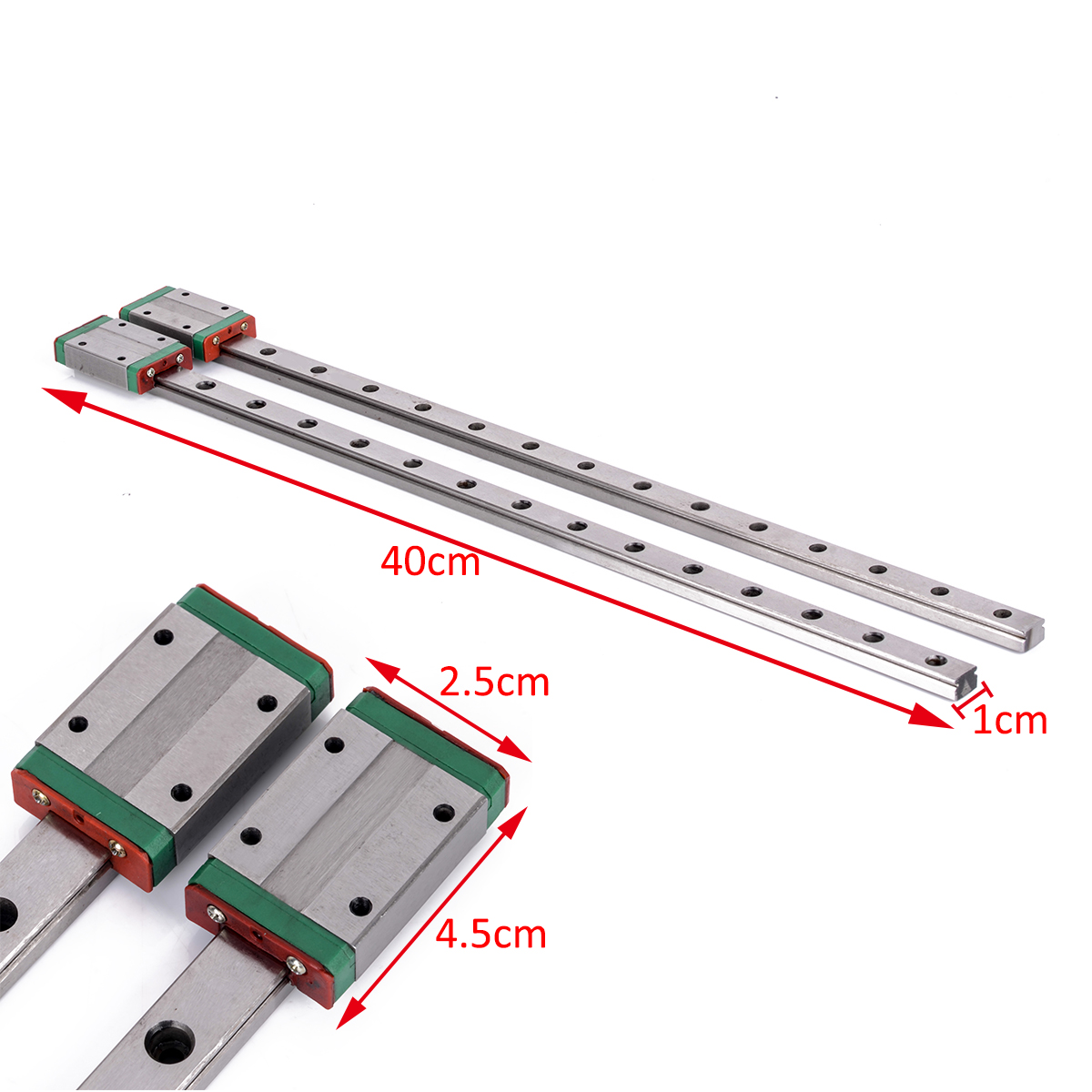 2pcs L400mm 12mm MGN12 Linear Rail Guide Slider with MGN12 Carriage Block Kits Set For  3D Printer Parts Mayitr стоимость