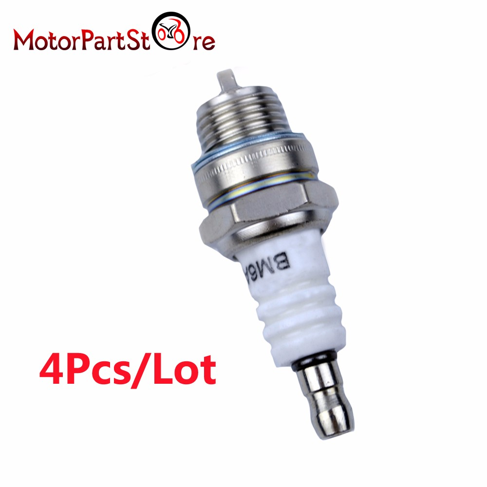 4pcs motorcycle spark plug replaces for ngk bm6a 5921 bosch ws8e 7543 champion cj8 843