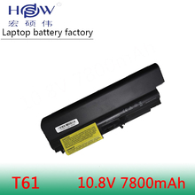 9Cell 7800mAh Battery For Lenovo IBM ThinkPad R400 R61 R61i T400 T61 T61p Laptop 42T5227 цена