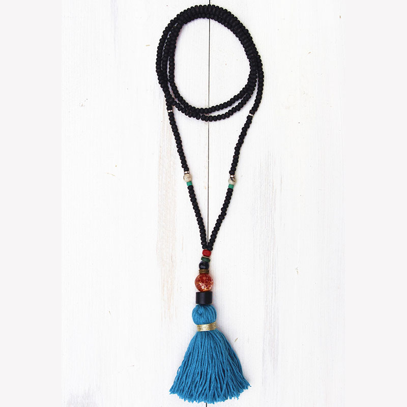 Dongmu jewellery bohemian style fashion tassel pendant pearl long necklace lady boutique jewelry new year best gift