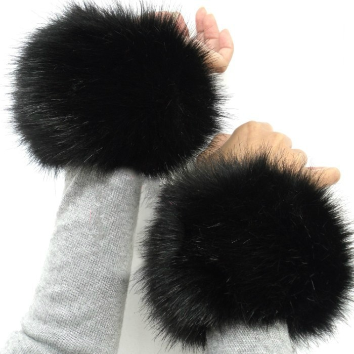 Faux Fox Rabbit Fur Cuff Warmer