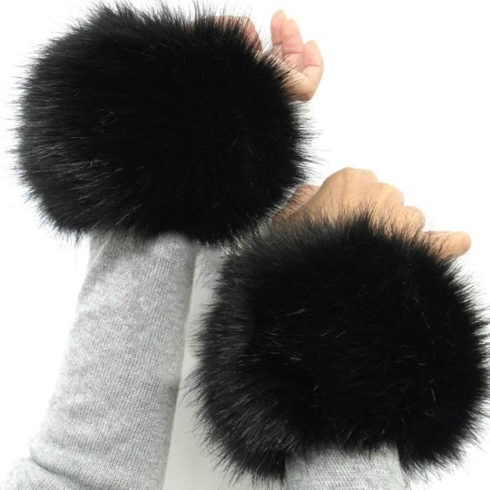 Faux Fox Rabbit Fur Cuff Warmer