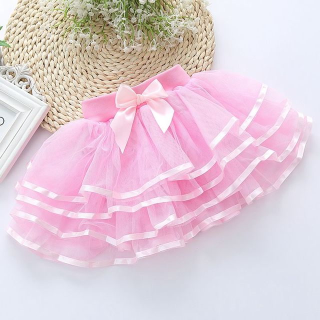 Girls Tutu Skirts Mesh Layered Skirts For Girls Children Clothing Princess Party Tulle Skirts Girls Dance Wear 4 6 8 9 10 Years