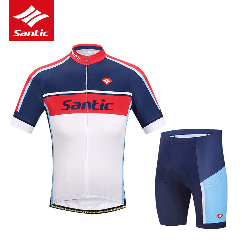 Santic Brand Cycling Set Men Pro Team Cycling Jersey Set 4D Padded MTB Bike Bicycle Jersey Cycle Clothing Set Maillot Ciclismo santic pro cycling jerseys kits sets cycle cycling clothing mtb road bike shirt tops pro padded bicycle shorts ropa ciclismo men