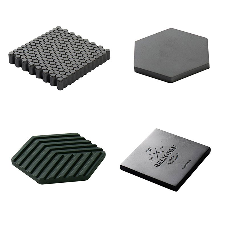 New Coaster Mold Concrete Cement Wall Brick Silicone Mould DIY Home Decoration Tool