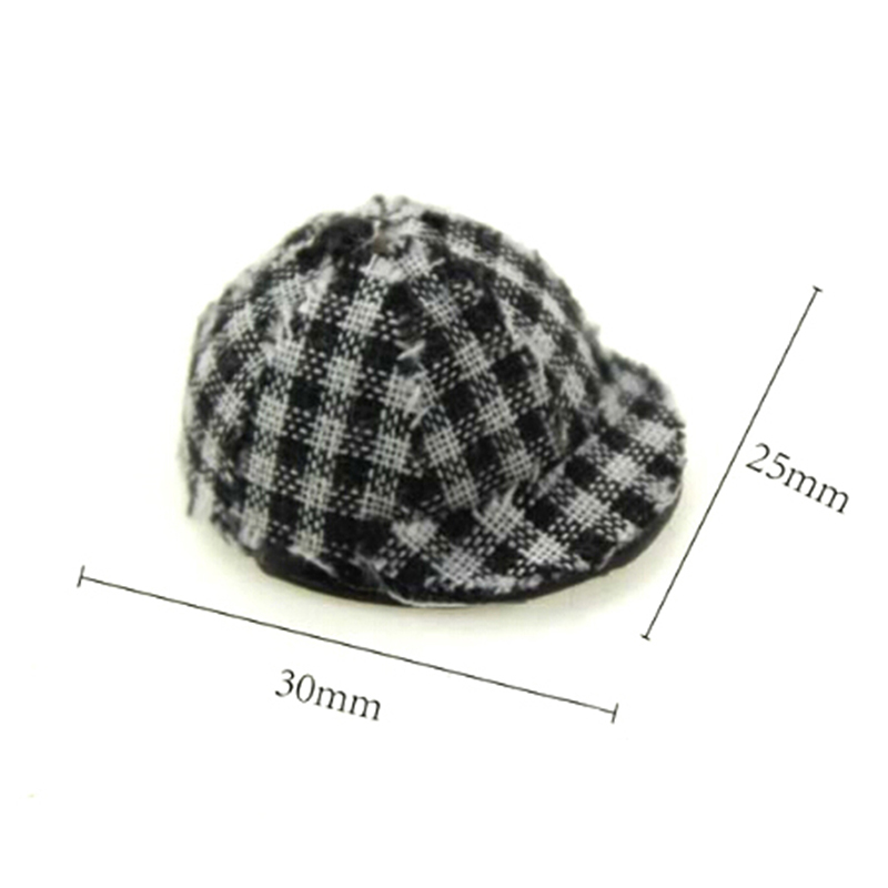 New 1 12 Miniature Plaid Cap Dollhouse Decoration Dolls Accessories in Dolls Accessories from Toys Hobbies