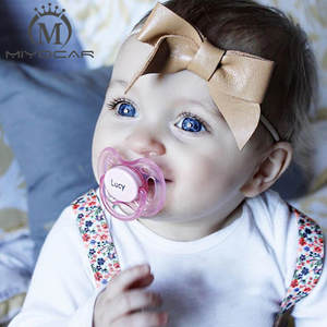 186ee34ab5dc0 MIYOCAR Engraved pink princess baby pacifier dummy boy gift