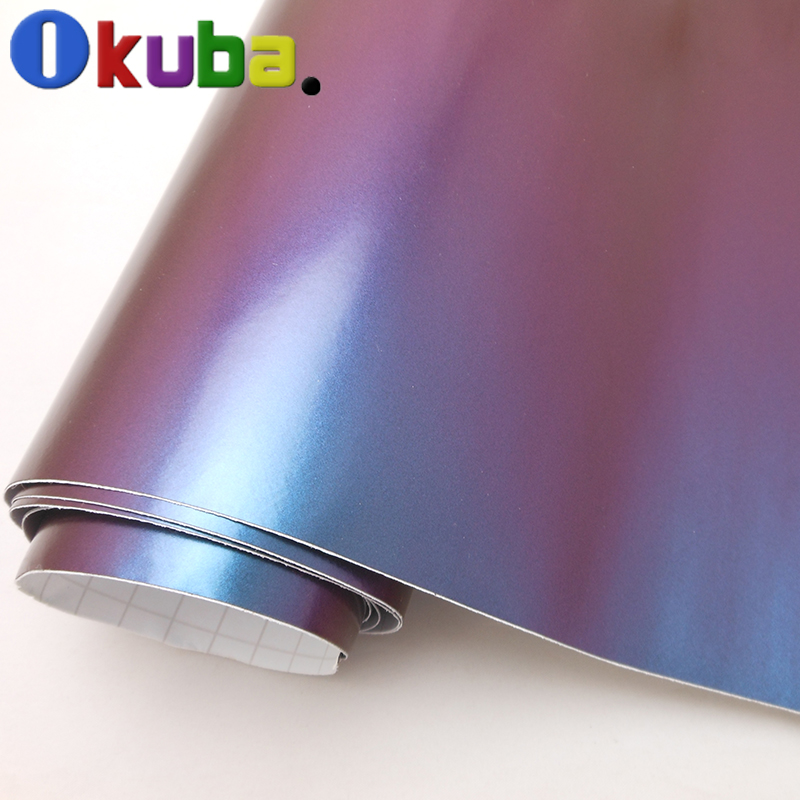 wholesale high quality chameleon glossy car wrap vinyl film with air bubble free Fedex Free Shipping