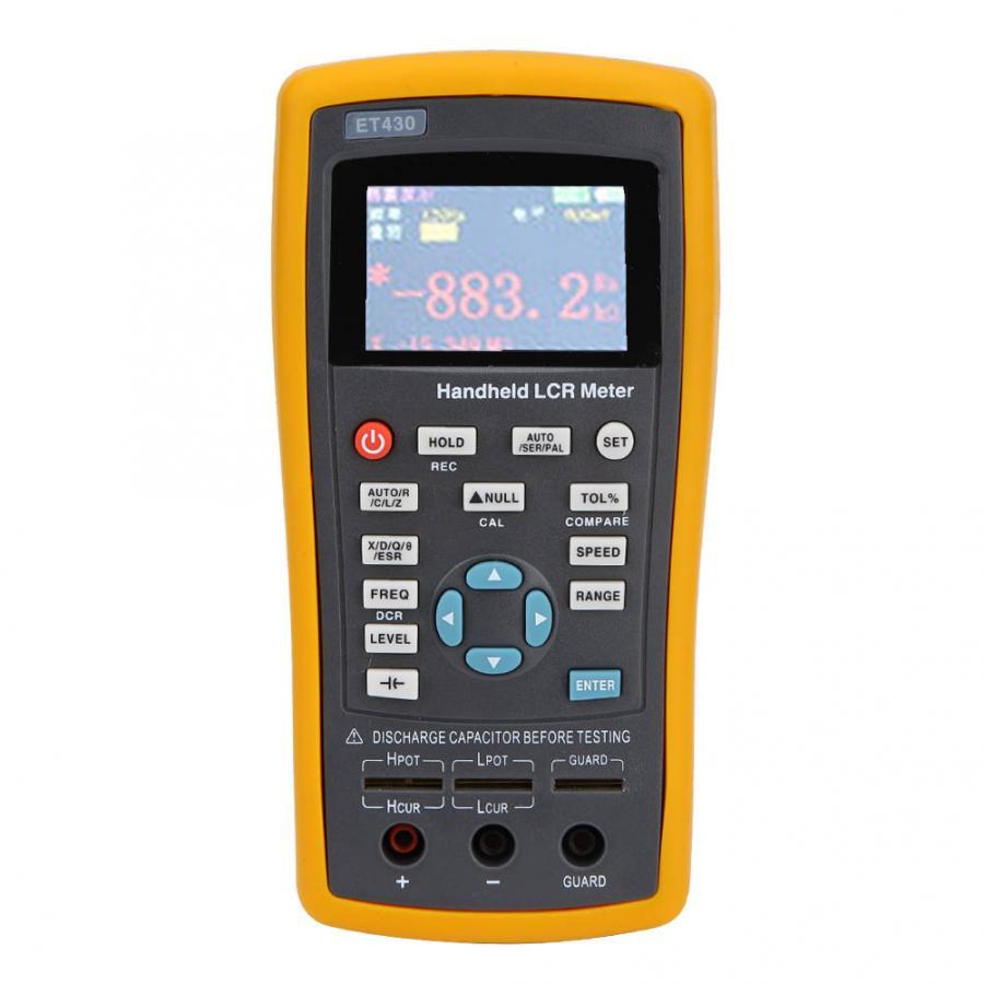 ET430 100 240V Multifunction Handheld Digital Resistance Inductance Capacitance Meter Tester