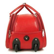 valiz bag free shipping women and men travel bag genuine  portable folding trolley case, new style, travel luggage, lock, mute