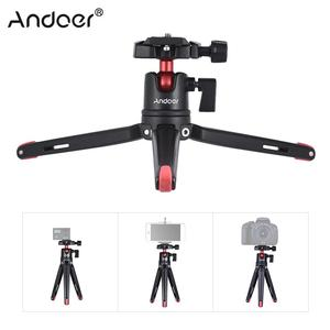 Image 2 - Andoer Mini Handheld Travel Tabletop Tripod Stand with Ball Head for iPhone for Samsung Huawei Honor 9  Smartphone for GoPro 5