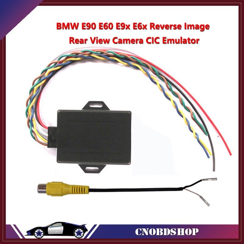 Prix pour Nouvelle image inversée Émulateur/Arrière Vue Caméra Activateur Pour E90 E60 E9X E6X CIC Avec PDC