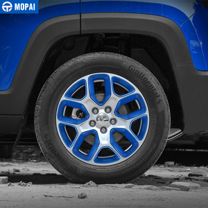 Image 5 - MOPAI ABS Car Wheel Hub Cover Decoration Cover Frame ABS Stickers for Jeep Renegade 2015 2017 Exterior Accessories Car Styling
