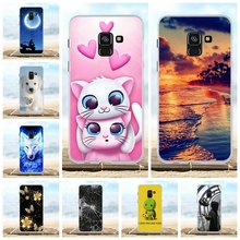 For Samsung A8 2018 Case Silicone Soft Cover Funda Galaxy A530F 3D Cute Bag Phone Cases