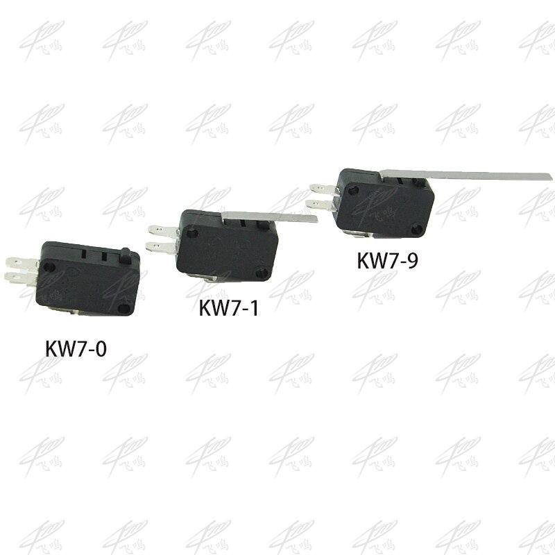 5 шт./лот новый микро ролика длинной ручкой рычаг нормально открытый закрыть концевой выключатель KW7-0 KW7-1 в микропереключатель короткий хвос...