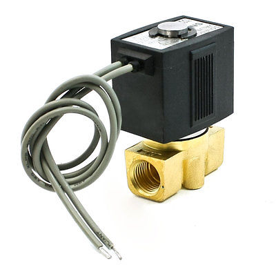 """Воздух Вода прямого действия 0,5 """"2 Порты электромагнитный клапан DC 24 В 320mA 7,6 Вт"""