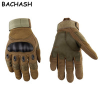 BACHASH Army Military Tactical Gloves Paintball Airsoft Shooting Combat Anti-Skid Bicycle Hard Knuckle Full Finger Men Gloves