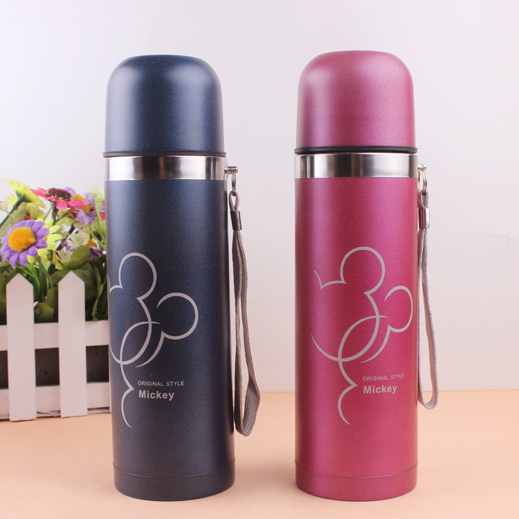 Stainless Steel Tumbler Vacuum Flasks For Tea Thermoses Women Student Thermo Mug Thermocup 500ml Mickey Thermos Bottle Thermo