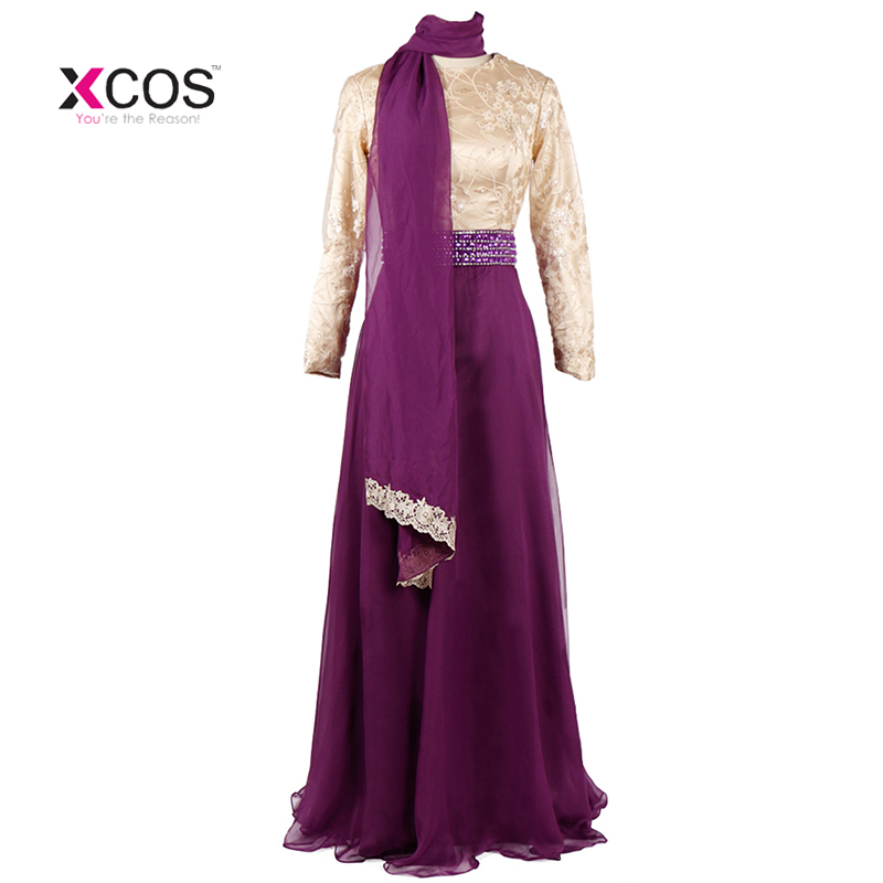 Vestido de festa Long Sleeve Muslim Evening Dress 2018 Hijab Abaya - Gaun acara khas - Foto 1