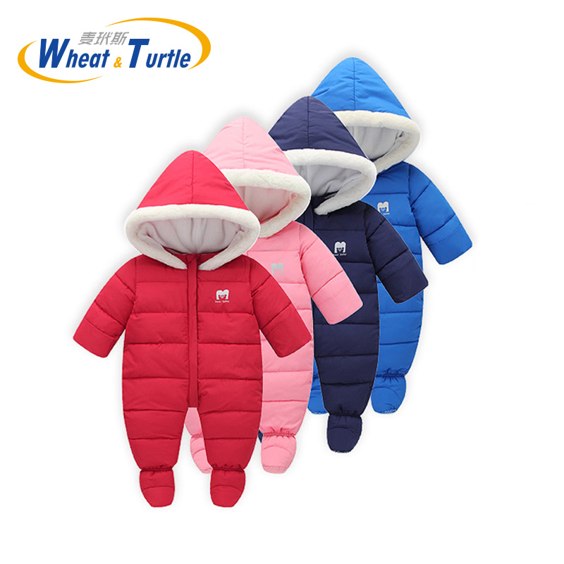 Mother Kids Baby Clothing One-Pieces Rompers Infant Hooded Rompers Cotton Tracksuit Clothing Long Sleeve Hooded Jumpsuit Clothes infant baby boys clothes casual unisex newborn baby rompers fleece stripe long sleeve hooded one piece clothing overalls gray