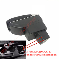Armrest storage box car organizer seat gap case pocket content box with USB cup holder FIT FOR MAZDA CX3 CX 3