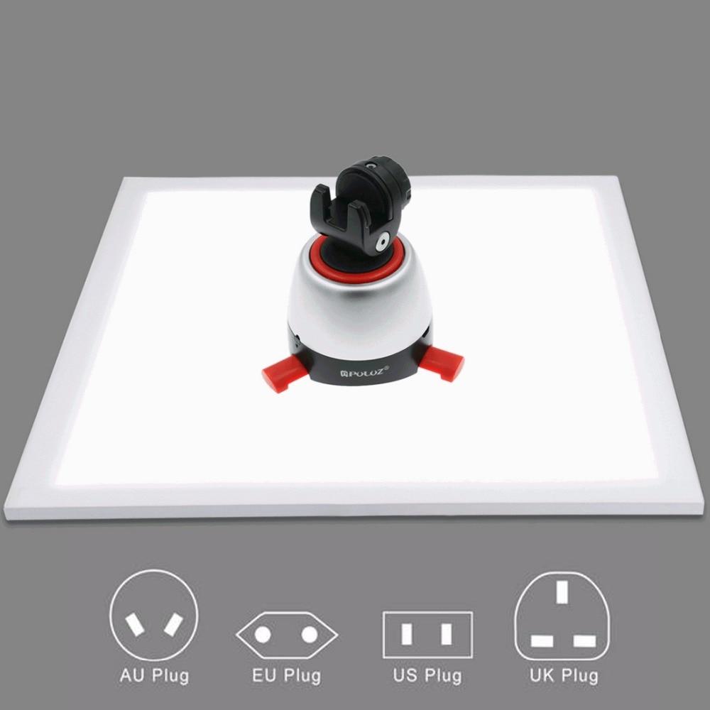 1200LM LED Studio Photography Shadowless Bottom Light Shadow-free Lamp Panel For Photo Shooting Tent Box &No Polar Dimming Light