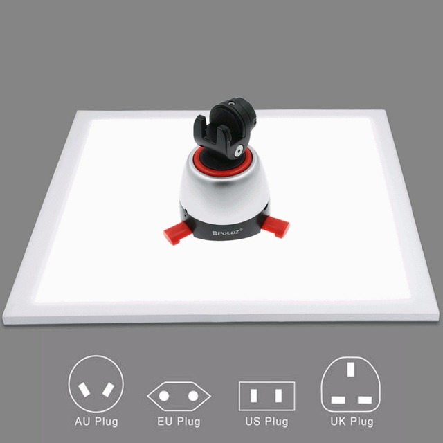 1200LM LED Studio Photography Shadowless Bottom Light Shadow-free Lamp Panel for Photo Shooting Tent Box &No Polar Dimming Light