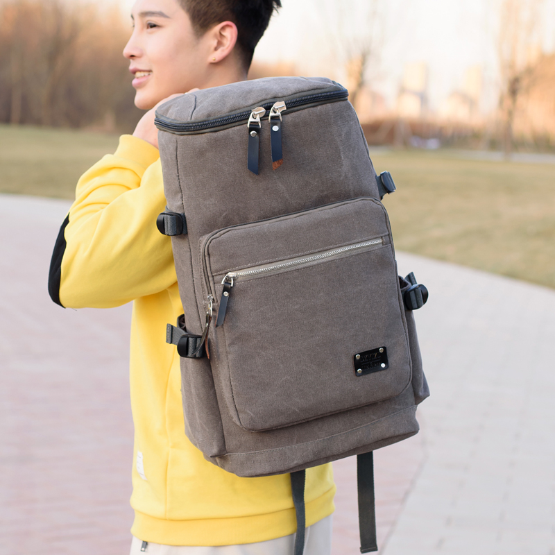 Кожаный мужской рюкзак BOSTANTEN, большие дорожные рюкзаки, школьный бизнес рюкзак 13 14 15 дюймов, рюкзак для ноутбука, сумка для компьютера с защи... - 2