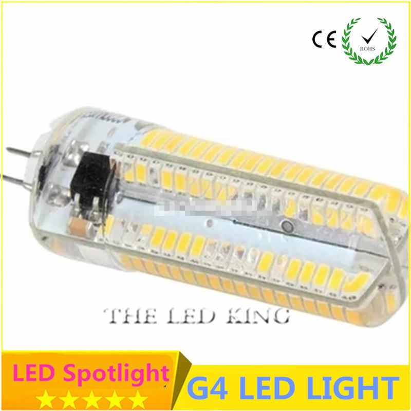 Kualitas Tinggi Lampu LED G4 Bohlam LED DC 12V G4 Lampu 110V 220V Lampu Sorot Lampu 3014 2835 SMD 64 152 LED Body Silikon