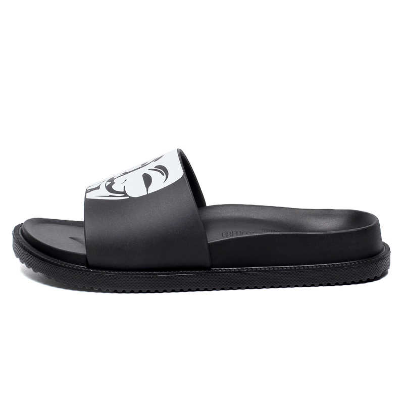 05bc95aaa6f2aa ... Summer Slides Men Casual Men's Slippers Soft Comfortable Funny Home  Slippers Non-Slip Flat Bathroom ...