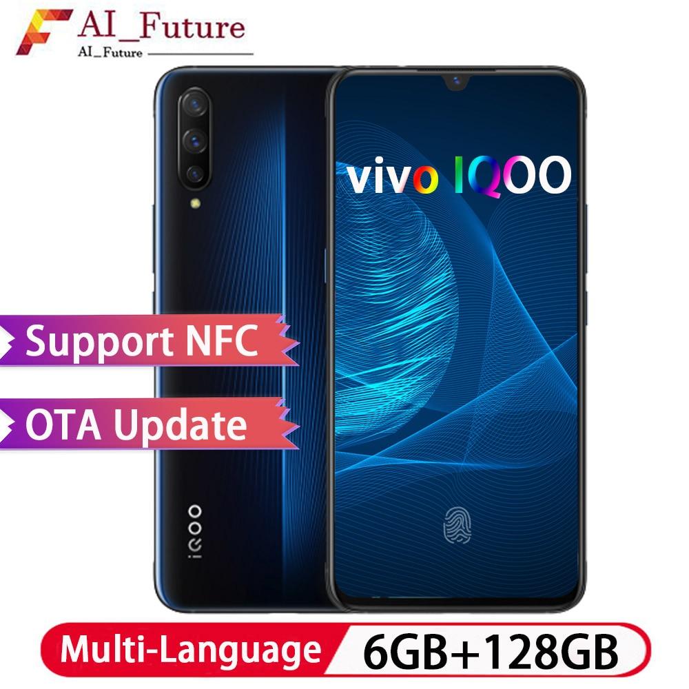 Original New VIVO IQOO 6GB 128GB Snapdragon855 Octa Core Android9 Smartphone 44W Fast Charging 4000mah NFC Type C Game Cellphone