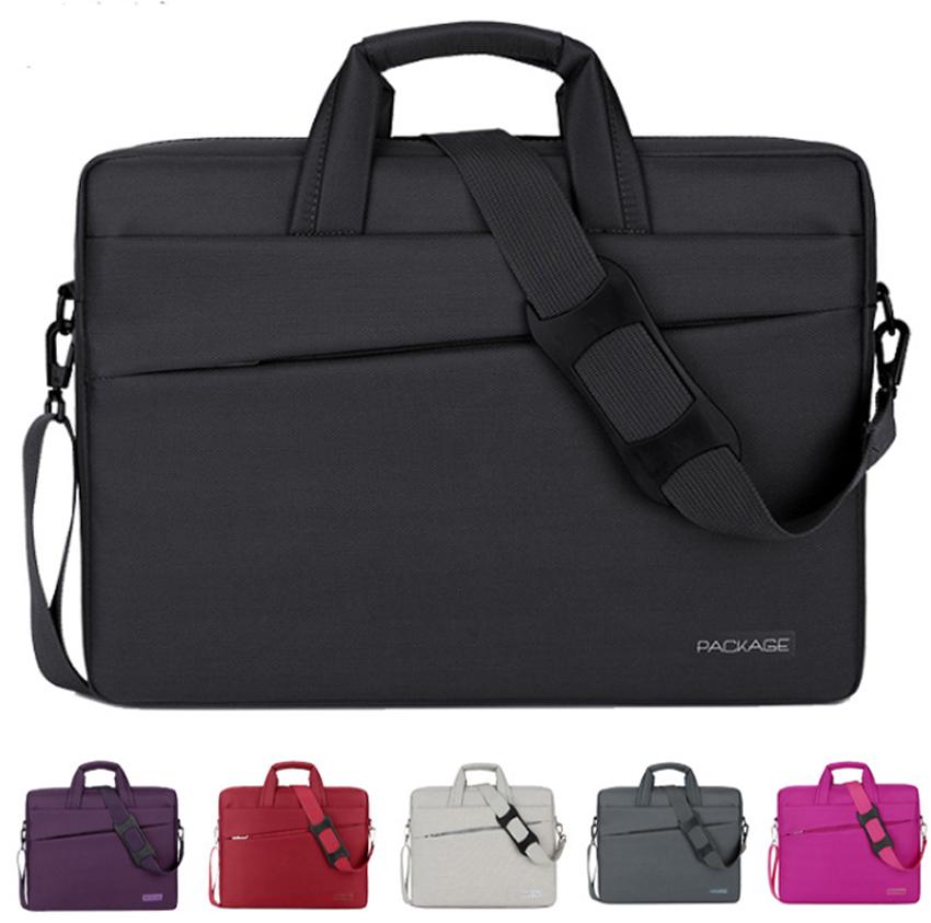 New 12 13 13.3 14 15 15.6 17 17.3 Inch Waterproof Computer Laptop Notebook Tablet Bag Bags Case Messenger Shoulder for Men Women 13 14 15 17inch big size nylon computer laptop solid notebook tablet bag bags case messenger shoulder unisex men women durable
