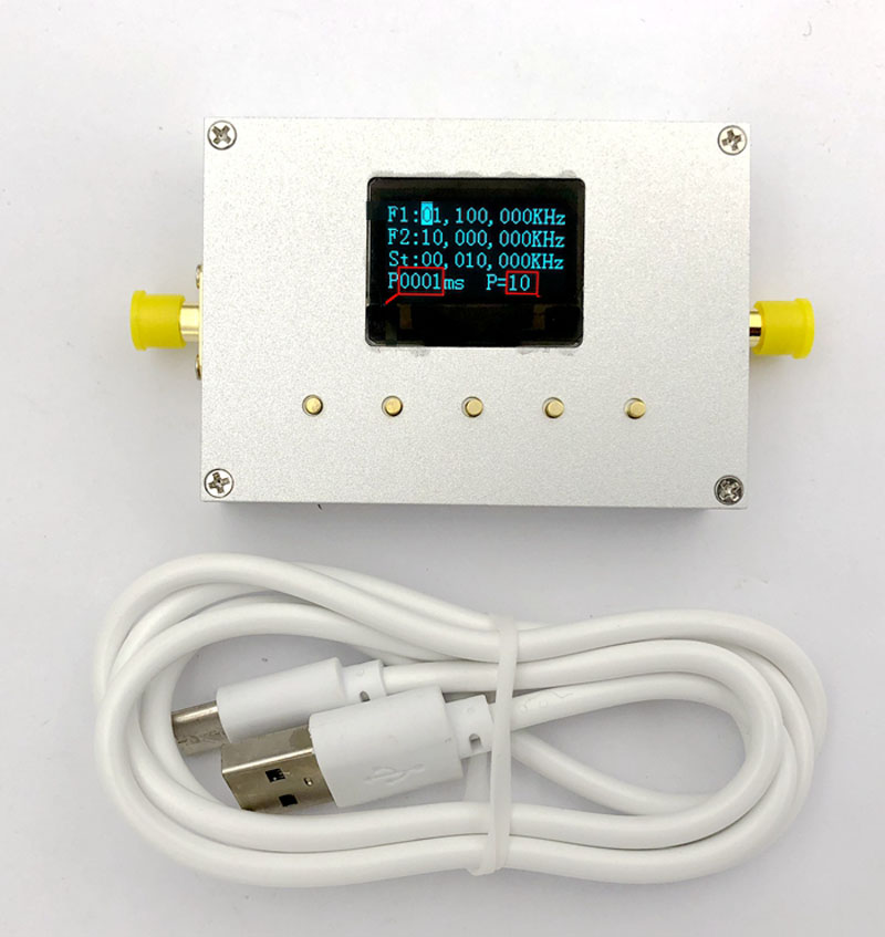 LMX2595 10 МГц 19 ГГц генератор сигналов RF модуль RF источник развертки источник фазовая замкнутая петля цифровой OLED дисплей