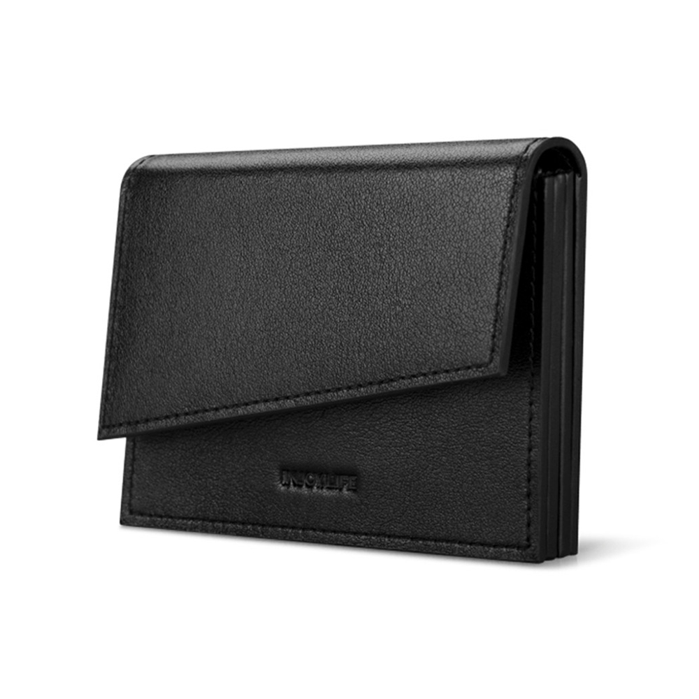 все цены на High End Cow Leather Card Holder Men Ultra-slim Creative Business Bank Card Holder онлайн
