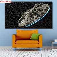 5D Diy Diamond Painting Cross Stitch full Square Round Diamond Embroidery spaceship picture for room Decor H1305