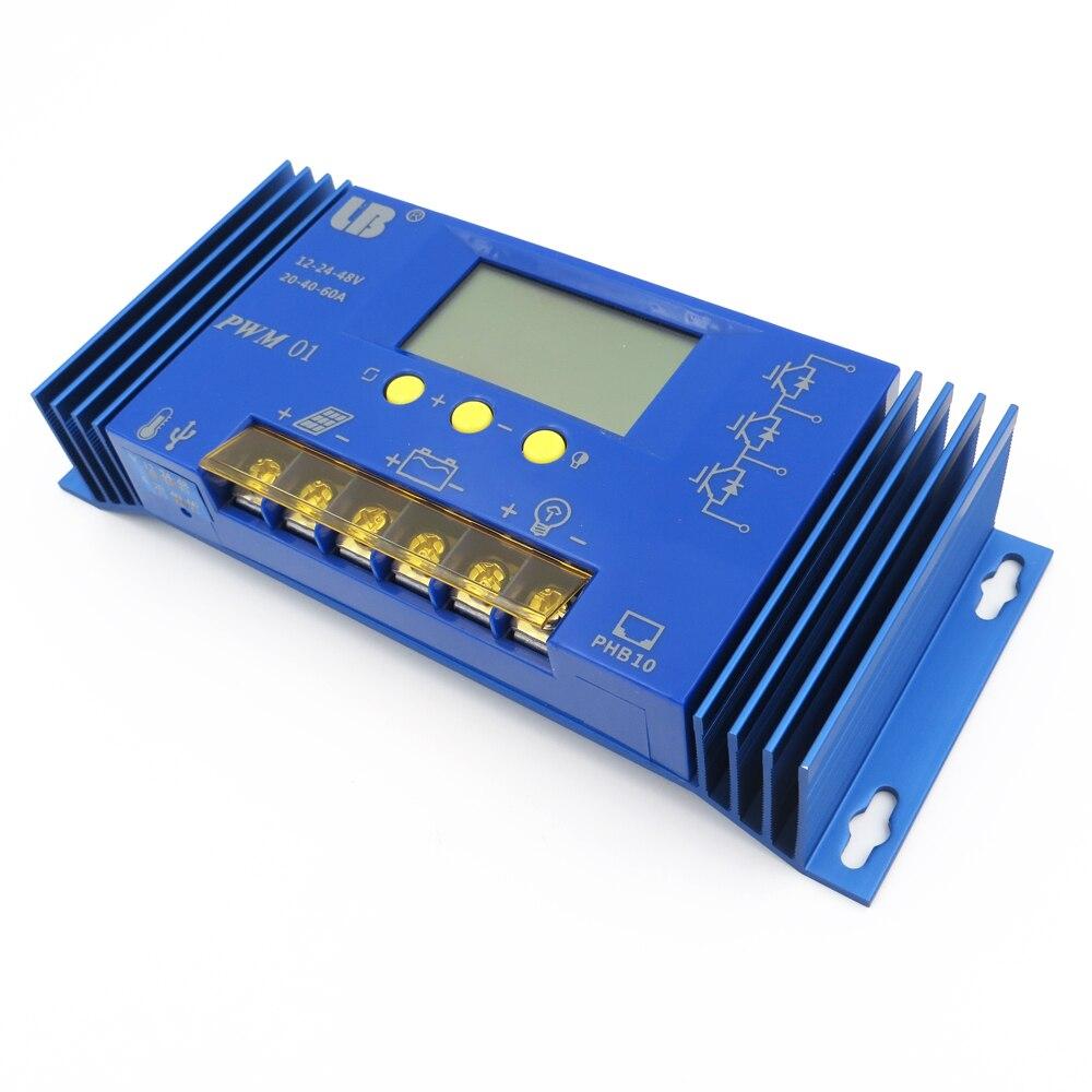 12 v/24 v/36 v/48 v 60A PWM LB Marque Panneau Solaire Contrôleur de Charge Régulateur LCD Affichage Au Lithium fer batterie