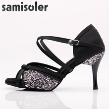 Samisoler Glitter Cut-Outs shoes woman latin dance tango jazz salsa Ballroom Fashion 5CM-10CM