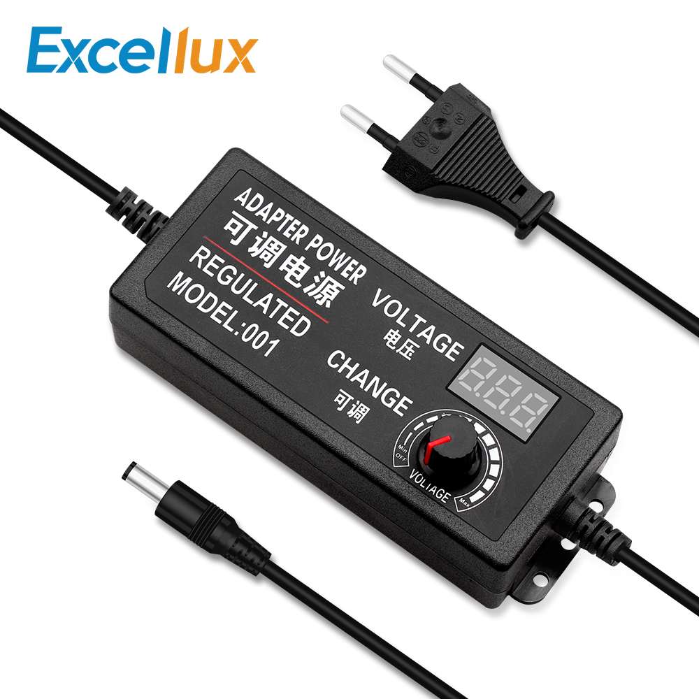 AC To <font><b>DC</b></font> Adjustable <font><b>Power</b></font> Adapter 3V-12V 3V-24V <font><b>9V</b></font>-24V With Universal <font><b>Supply</b></font> Display Screen <font><b>Power</b></font> Volt Switching Charger Adapter image