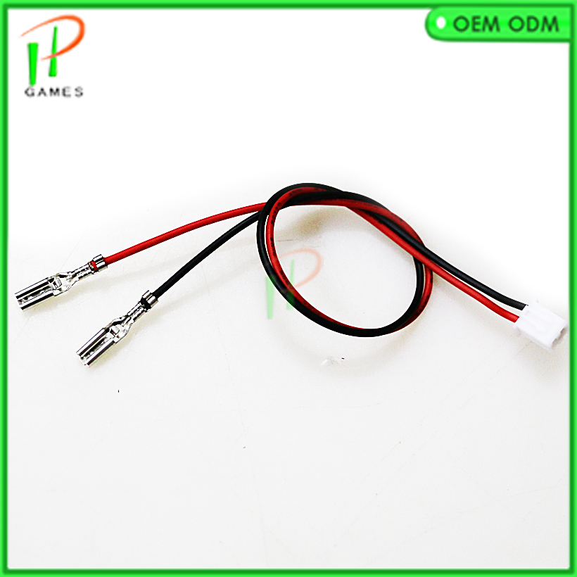 US $17 99 |100pcs 2 pin push buttons cable can connection Sanwa push button  for Jamma arcade Zero delay control board wire harness-in Coin Operated