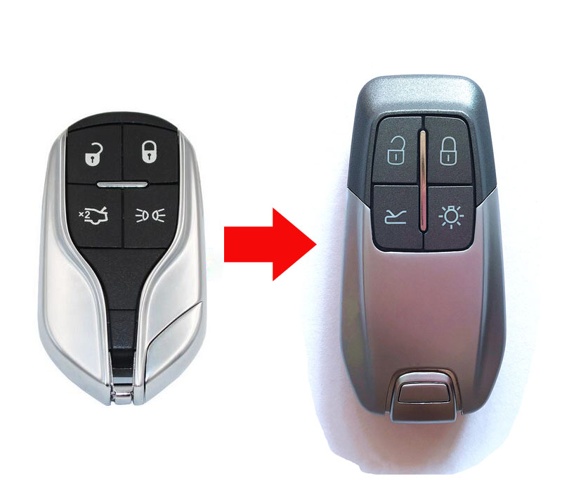 4 Buttons Replacement Modified Smart Remote Key Case Shell For Maserati Key Fob Cover